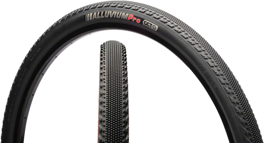 Kenda Alluvium Tire - 700 x 40 Tubeless, Folding, 120tpi, Black
