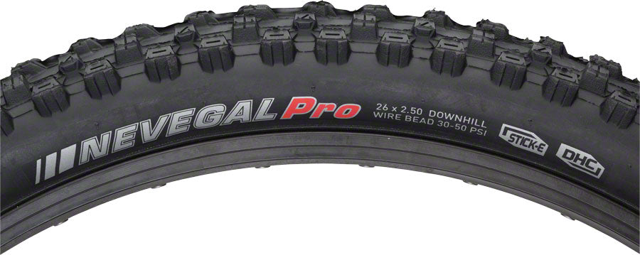 Kenda Nevegal DH Tire - 26 x 2.5, Clincher, Wire, Black