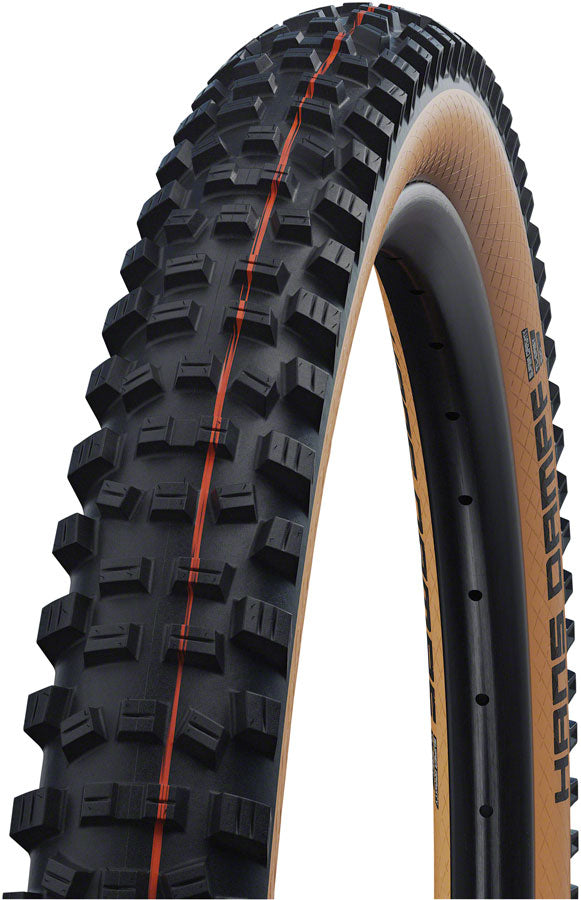 "Schwalbe Hans Dampf Tire - 29 x 2.35"", Tubeless, Folding, Black/Tan, Evolution Line, Addix Soft, Super Trail MPN: 11654043.01 Tires Hans Dampf Tire"