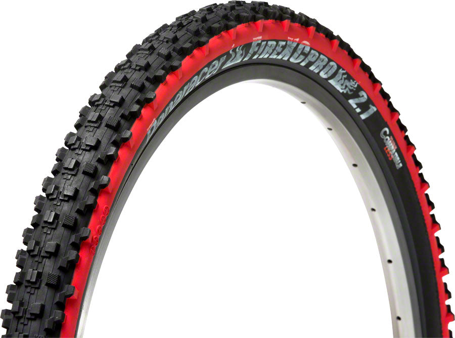 Panaracer Fire Pro Tubeless Compatible 26 x 2 .1 Tire, Folding Bead, Black/Red