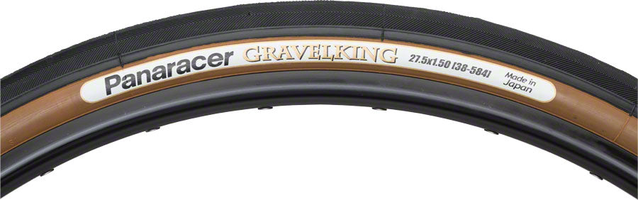Panaracer GravelKing Tire - 650b x 38, Tubeless, Folding, Black/Brown