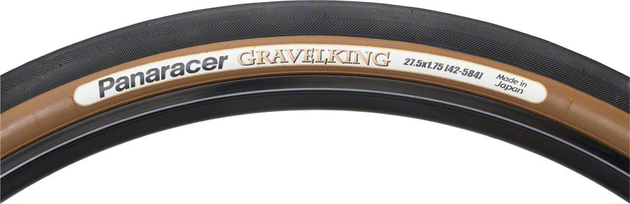 Panaracer GravelKing Tire - 650b x 42, Tubeless, Folding, Black/Brown MPN: RF650B42-GK-D Tires GravelKing Tire