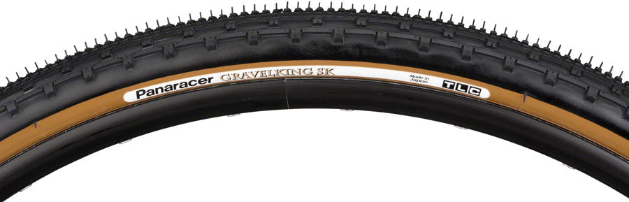 Panaracer GravelKing SK Tire - 700 x 50, Tubeless, Folding, Black/Brown MPN: RF750-GKSK-D Tires GravelKing SK Tire
