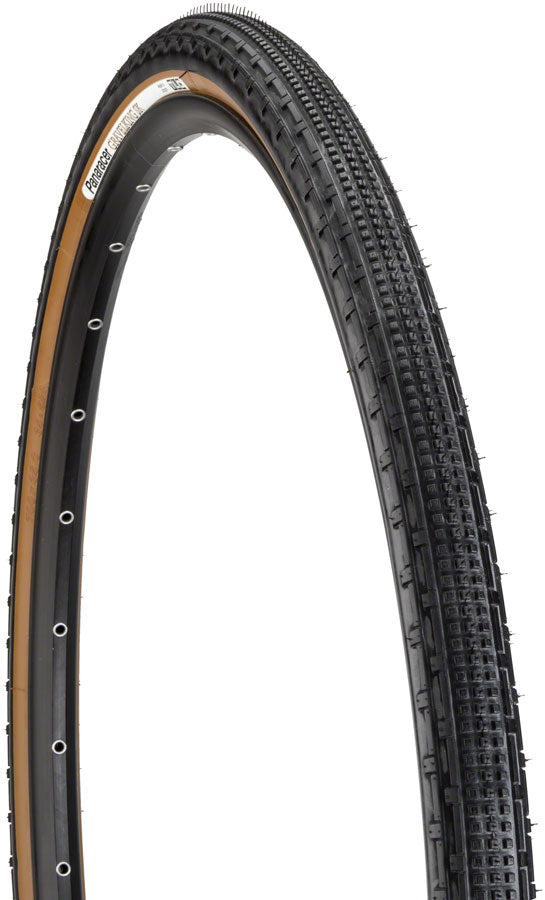 Panaracer GravelKing SK Tire - 700 x 50, Tubeless, Folding, Black/Brown