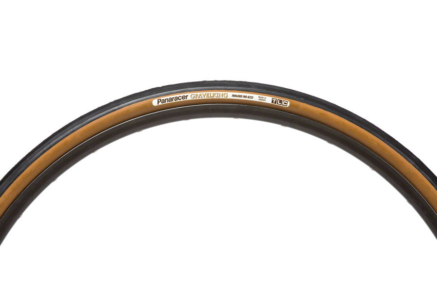 Panaracer GravelKing Tire - 700 x 38, Tubeless, Folding, Black/Brown