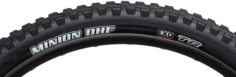 Maxxis Minion DHF Tire - 27.5 x 2.5, Tubeless, Folding, Black, Dual, EXO, Wide Trail MPN: TB85975000 Tires Minion DHF Tire