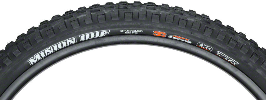 Maxxis Minion DHF 27.5 x 2.5 Wide Trail (WT) 60tpi Triple Compound Max Terra, EXO Tubeless