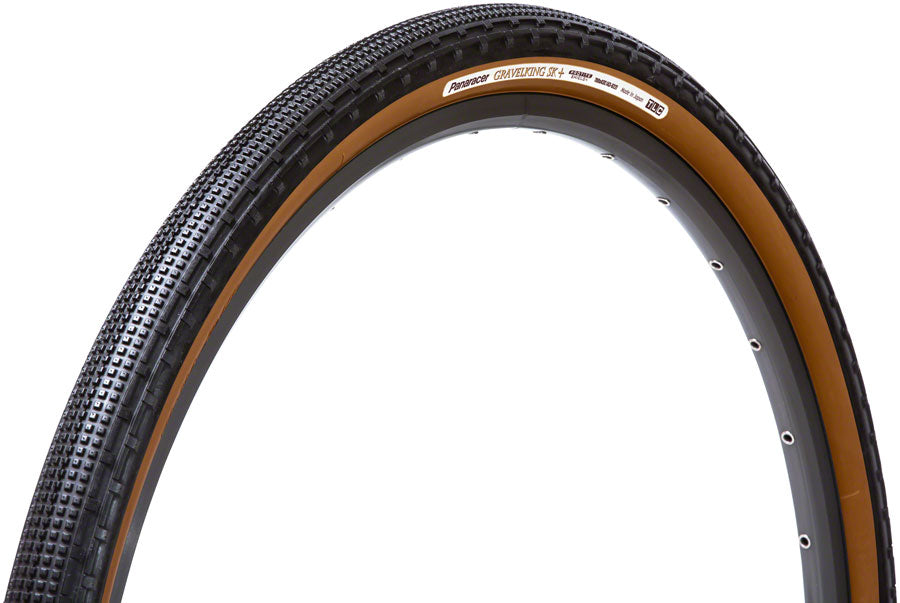 Panaracer GravelKing SK+ Tire - 700 x 35, Tubeless, Folding, Black/Brown, ProTite Protection