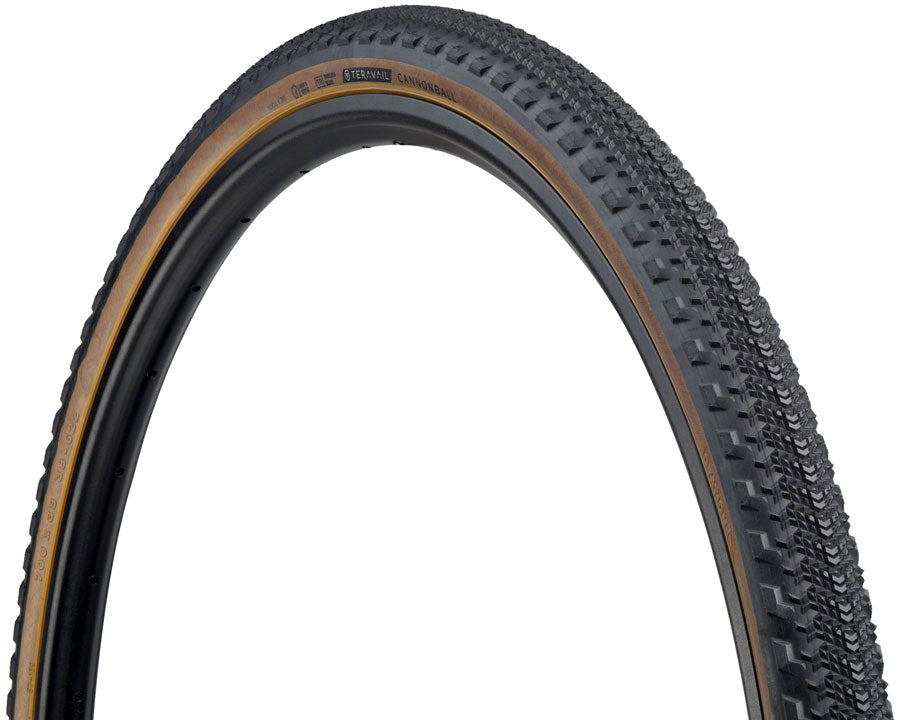 Teravail Cannonball Tire - 700 x 38, Tubeless, Folding, Tan, Light and Supple