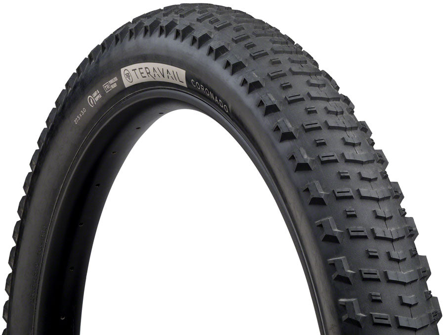 Teravail Coronado Tire - 27.5 x 3, Tubeless, Folding, Black, Light and Supple