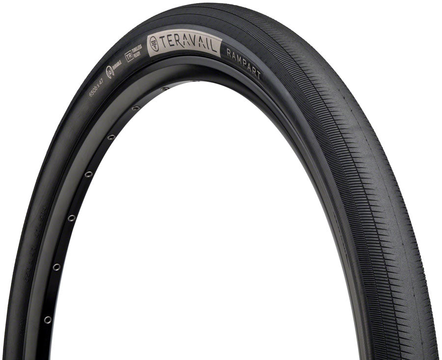 Teravail Rampart Tire - 650b x 47, Tubeless, Folding, Black, Light and Supple