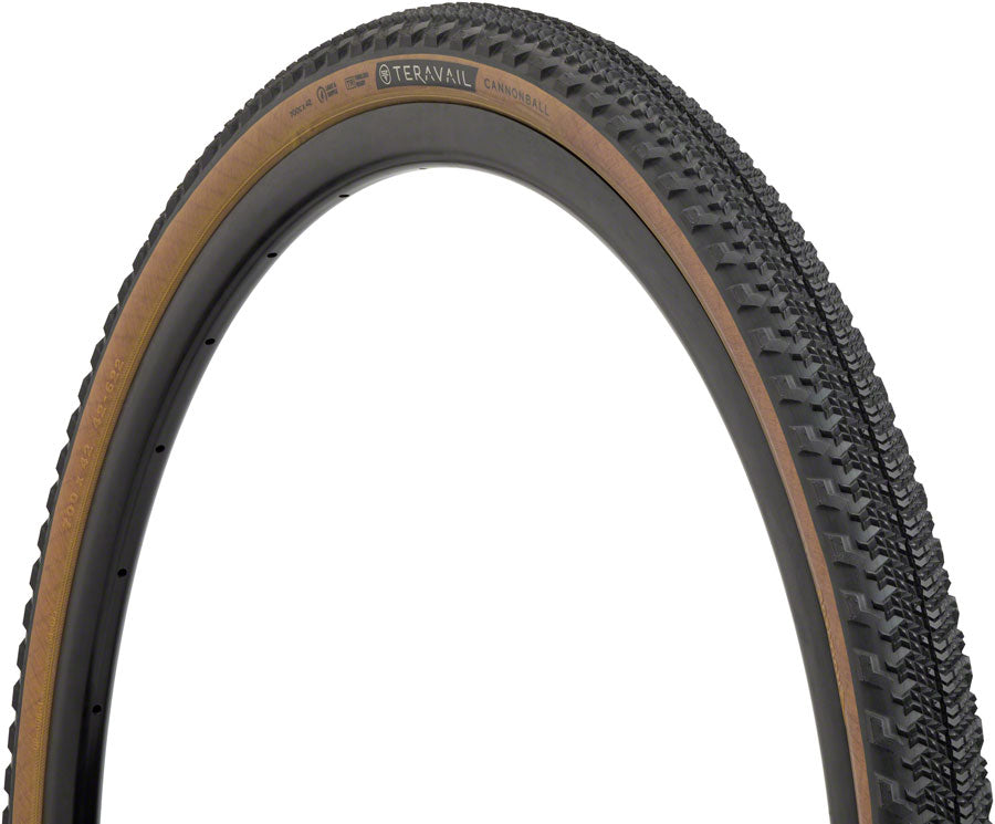 Teravail Cannonball Tire - 700 x 42, Tubeless, Folding, Tan, Light and Supple