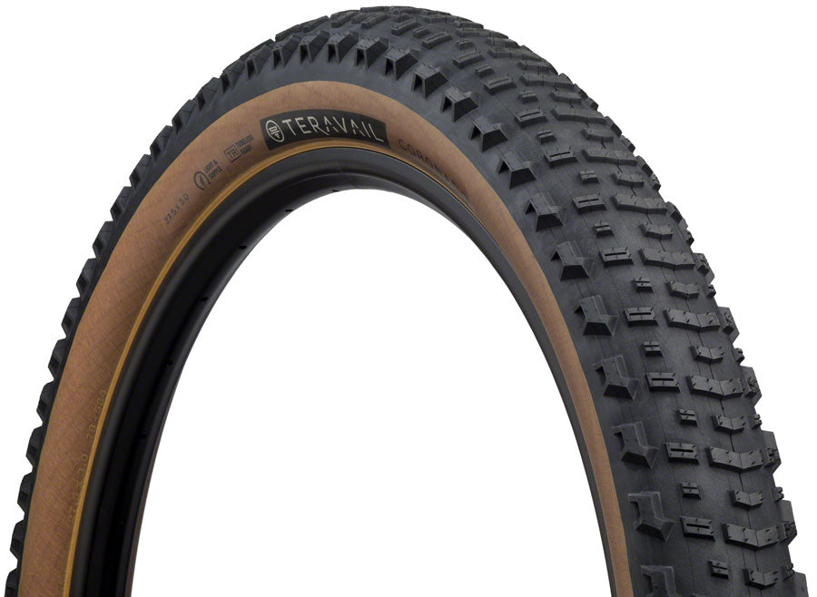 Teravail Coronado Tire - 27.5 x 3, Tubeless, Folding, Tan, Light and Supple