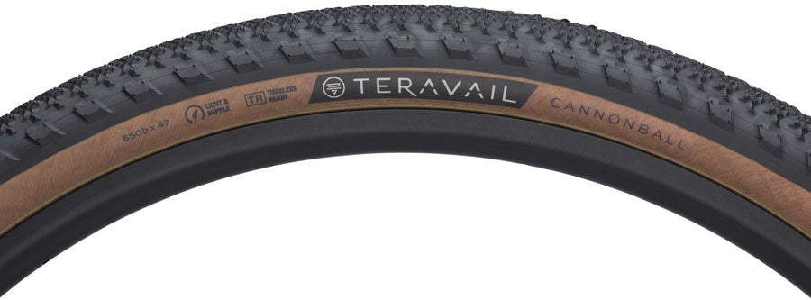 650b x 47 Tubeless Cannonball Tire Teravail Cannonball Tire Folding,