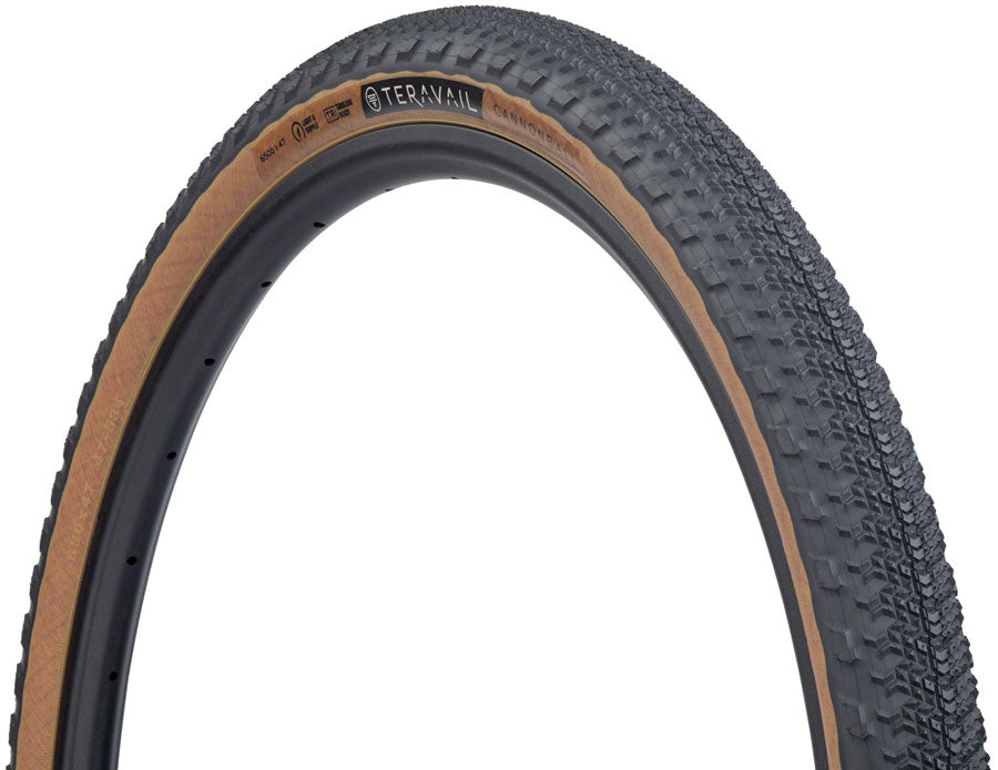 Teravail Cannonball Tire - 650b x 47, Tubeless, Folding, Tan, Light and Supple