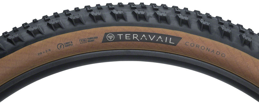 Teravail Coronado Tire - 29 x 2.8, Tubeless, Folding, Tan, Light and Supple - Tires - Coronado Tire