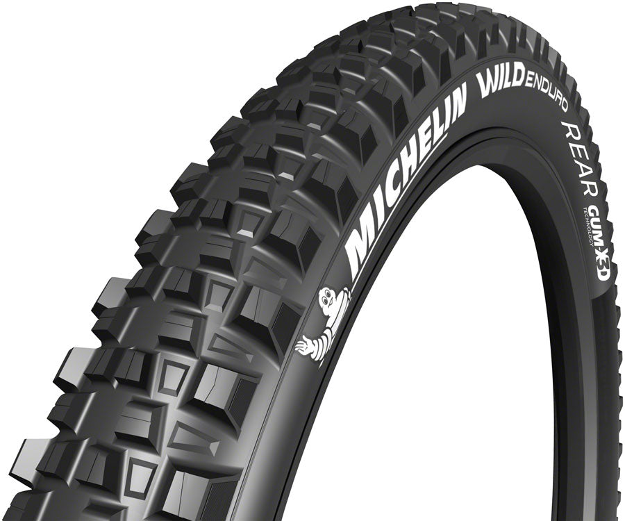 Michelin E-Wild Tire - 27.5 x 2.6,Tubeless, Folding, 33tpi, Black, Rear, E-Bike
