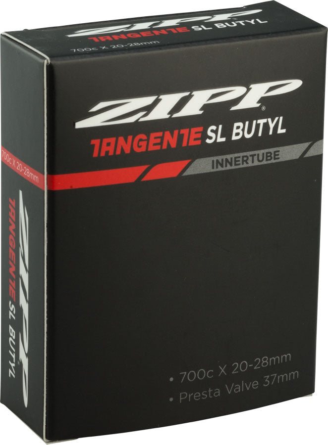 Zipp Speed Weaponry Tangente Butyl Tube: 700 x 20-28mm, 37mm Aluminum Presta Valve