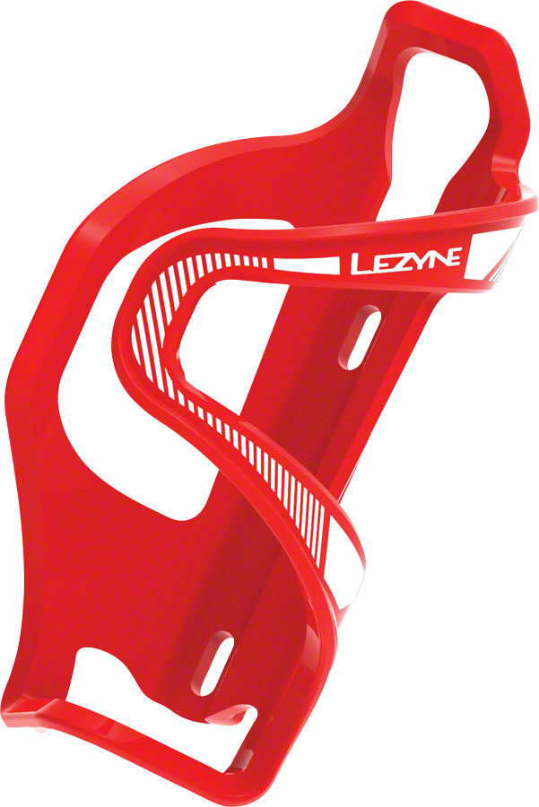 Lezyne Flow Cage SideLoader Left Entry, Enhanced Graphics, Red