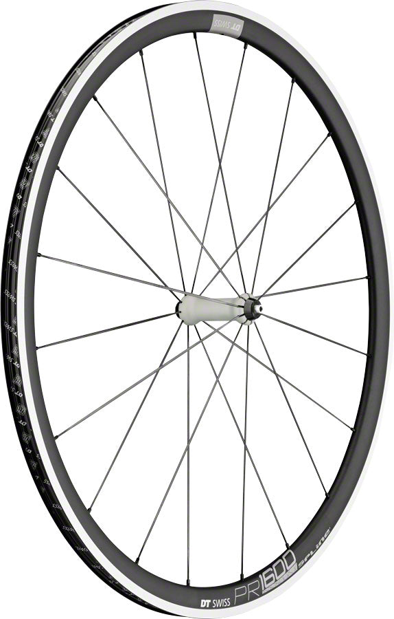 DT Swiss PR 1600 Spline 32 Front Wheel - 700, QR x 100mm, Rim Brake, Black