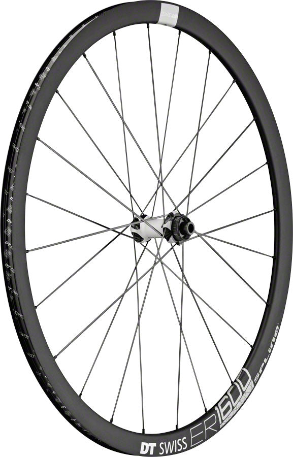 DT Swiss ER 1600 Spline 32 Front Wheel - 700, 12/15/QR x 100mm, 6-Bolt/Center-Lock, Black