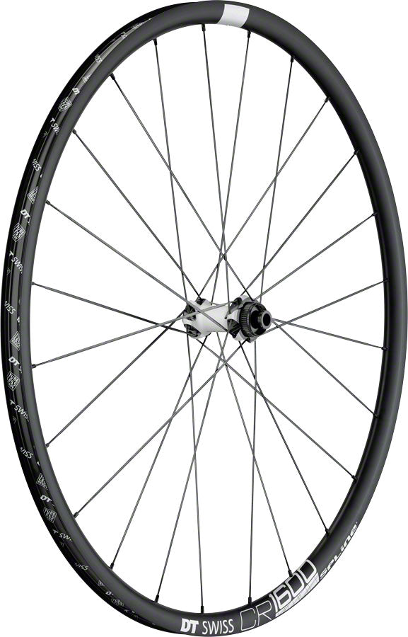 DT Swiss CR 1600 Spline Front Wheel - 700, 12/15/QR x 100mm, 6-Bolt/Center-Lock, Black