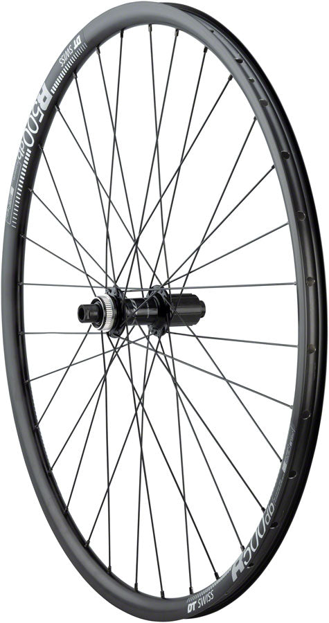 Quality Wheels RS505/DT R500 Disc Rear Wheel - 700, 12 x 142mm, Center-Lock, HG 11, Black