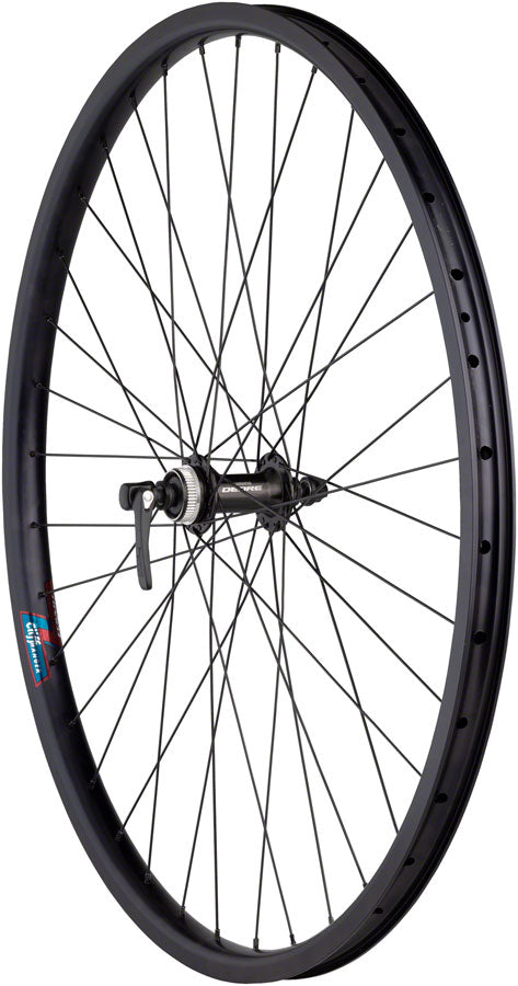 Quality Wheels Value HD Series Disc Front Wheel - 700, QR x 100mm, Center-Lock, Black