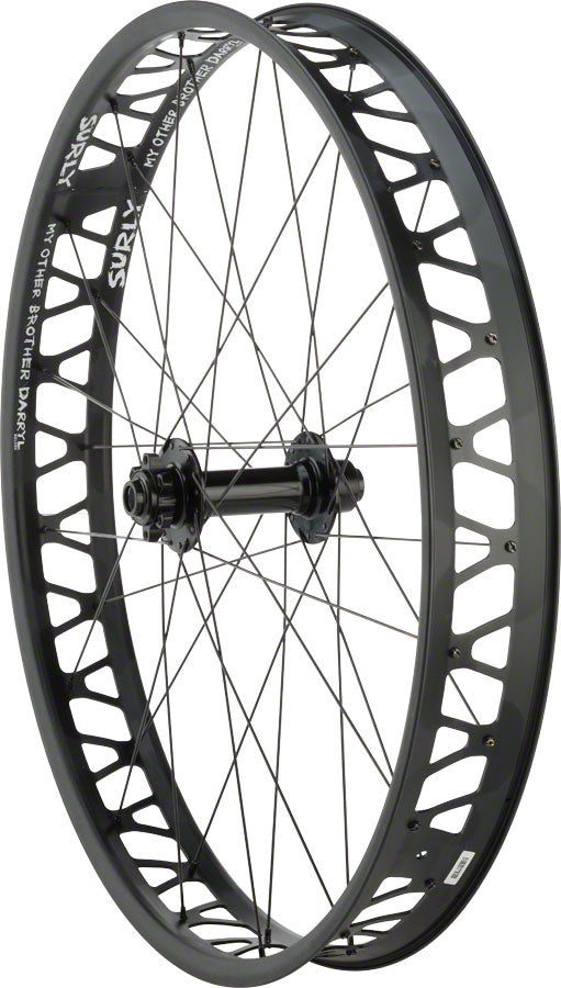 "Quality Wheels Front Wheel Fat Disc 26"" 150mm x 15mm 32h Formula / Surly Other Brother Darryl / All Black UPC: 708752178847 Front Wheel Formula / Other Brother Darryl Front Wheel"