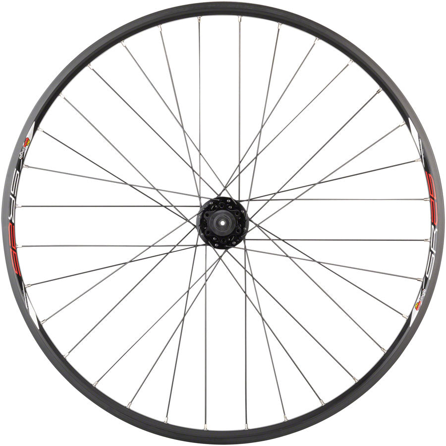 "Quality Wheels Value Double Wall Series Disc Rear Rear Wheel - 26"", QR x 135mm, 6-Bolt, HG 10, Black, Clincher MPN: WE8609 UPC: 708752056862 Rear Wheel Value Double Wall Series Disc Rear Wheel"
