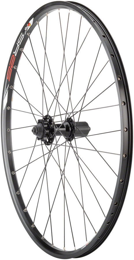 "Quality Wheels Value Series Disc Rear Wheel 26"" 6-bolt / Sun SR25 Black MPN: WE8609 UPC: 708752056862 Rear Wheel Value Disc Rear Wheel"