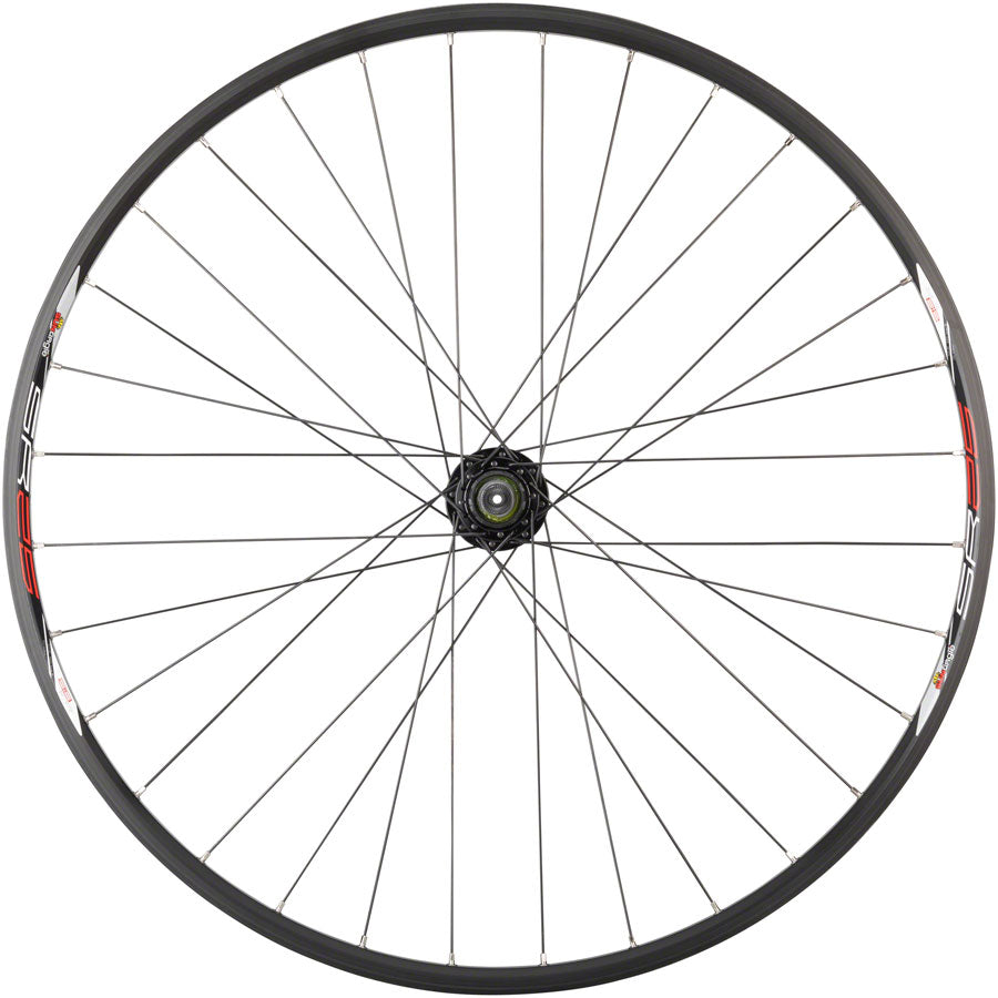 "Quality Wheels Value Double Wall Series Disc Rear Rear Wheel - 29"", QR x 135mm, 6-Bolt, HG 10, Black, Clincher - Rear Wheel - Value Double Wall Series Disc Rear Wheel"