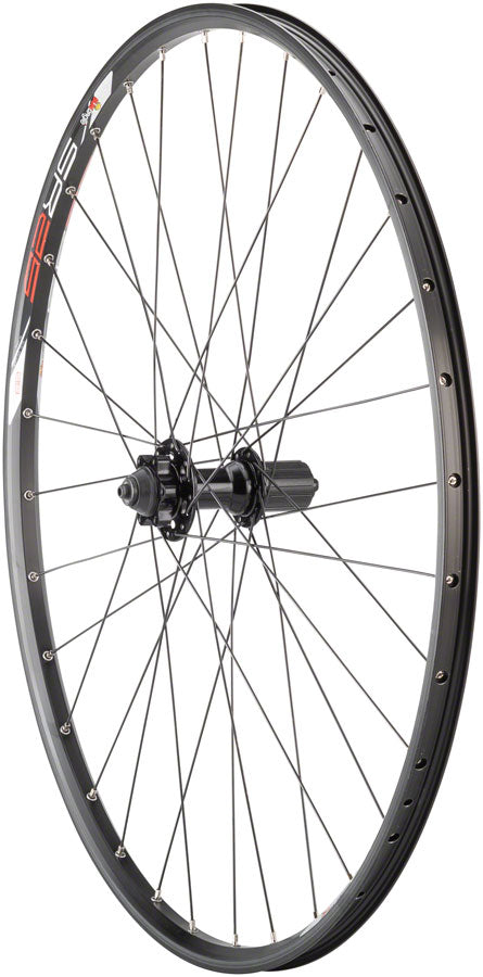 "Quality Wheels Value Series Disc Rear Wheel 29"" 6-bolt / Sun SR25 All Black MPN: WE8611 UPC: 708752056886 Rear Wheel Value Disc Rear Wheel"