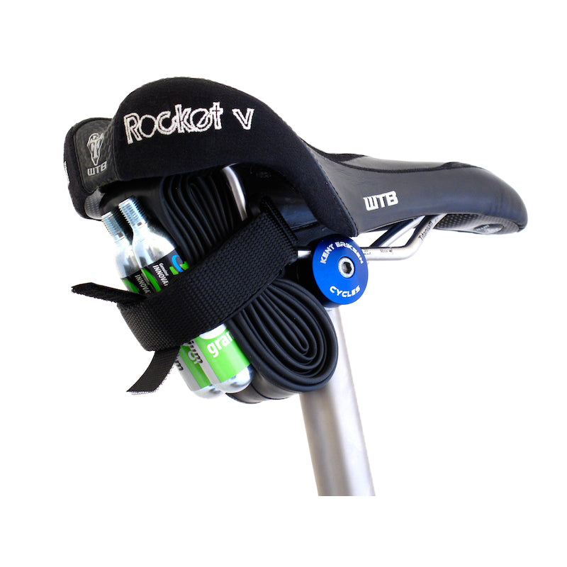 Backcountry Research Gristle Strap Fat Tube Saddle Mount - Black - Tool Wrap - Gristle