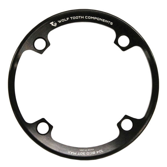 Wolf Tooth Bash Guard: for 104 BCD Cranks, fits 32T - 34T Chainrings MPN: BR104-3234 UPC: 812719021364 Chainring Guard Alloy Bashguard 104 BCD