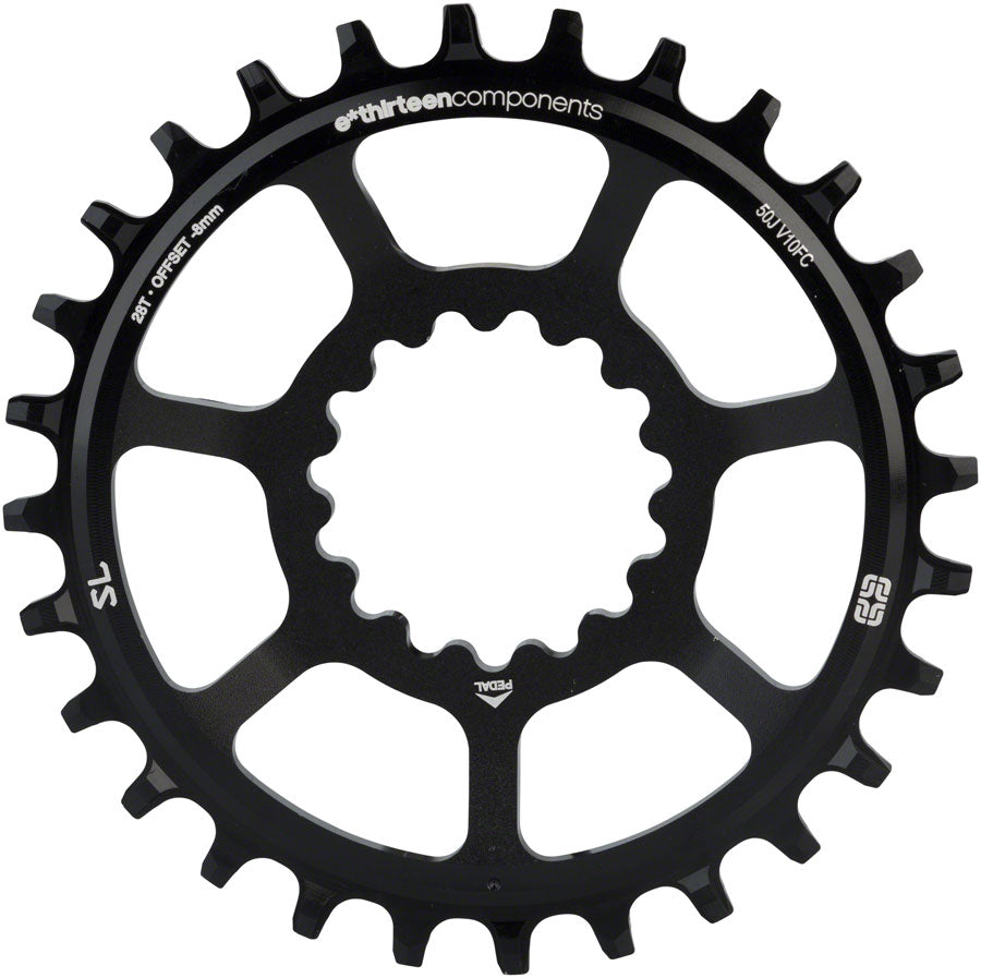 e*thirteen Direct Mount SL Guide Ring 28t Narrow Wide, Black - Direct Mount Chainrings - SL Guidering