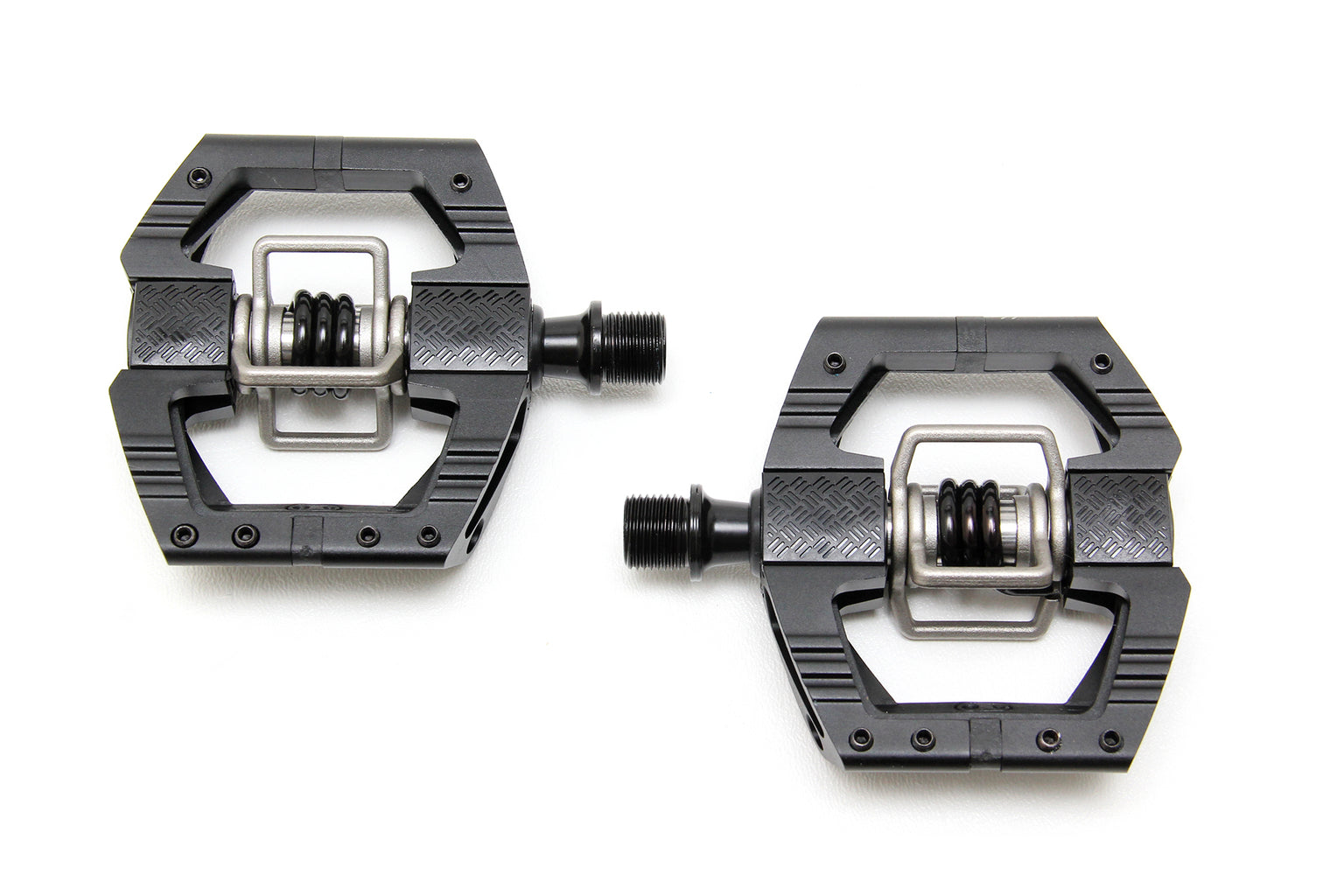 "Crank Brothers Mallet Enduro Pedals - Dual Sided Clipless with Platform, Aluminum, 9/16"", Black - Pedals - Mallet E Pedals"