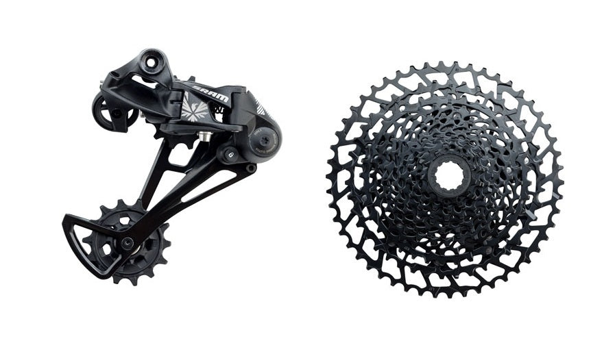 SRAM NX Eagle Rear Derailleur & Cassette, 12 Speed, Black