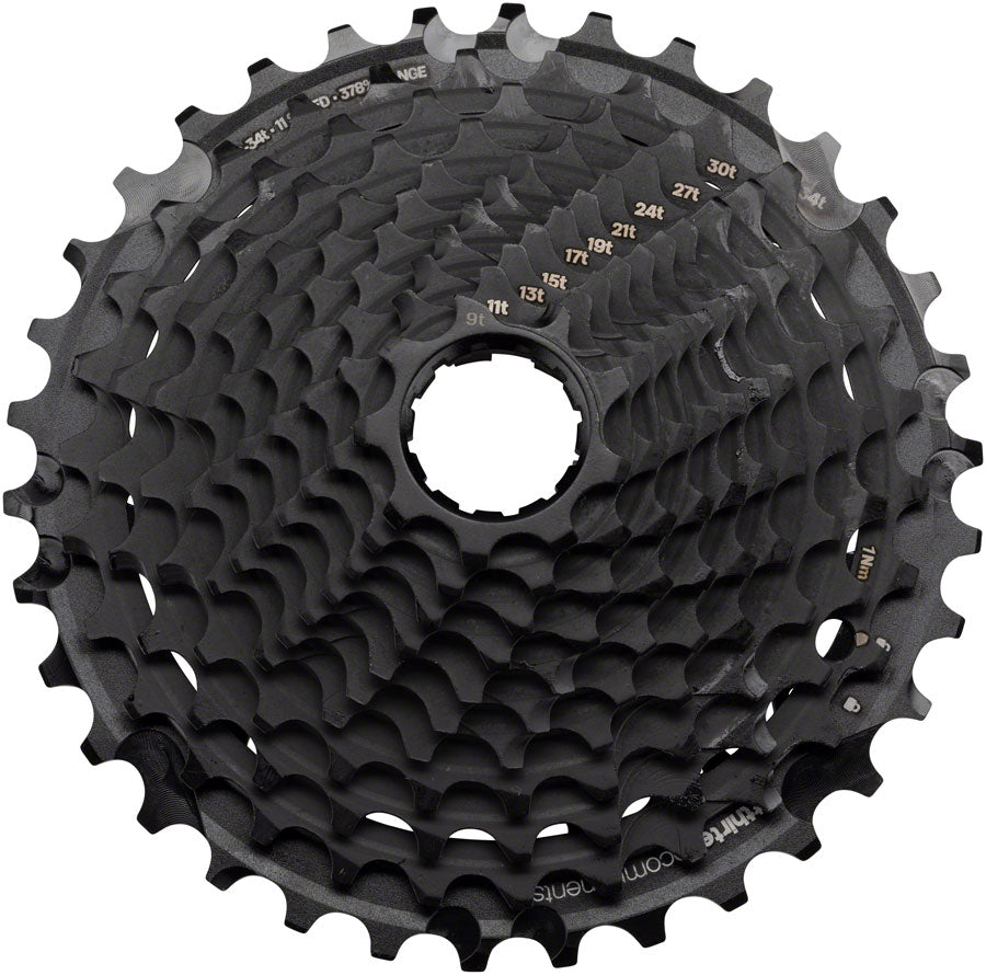 e*thirteen by The Hive XCX Plus Cassette - 11 Speed, 9-34t, Black, For XD Driver Body