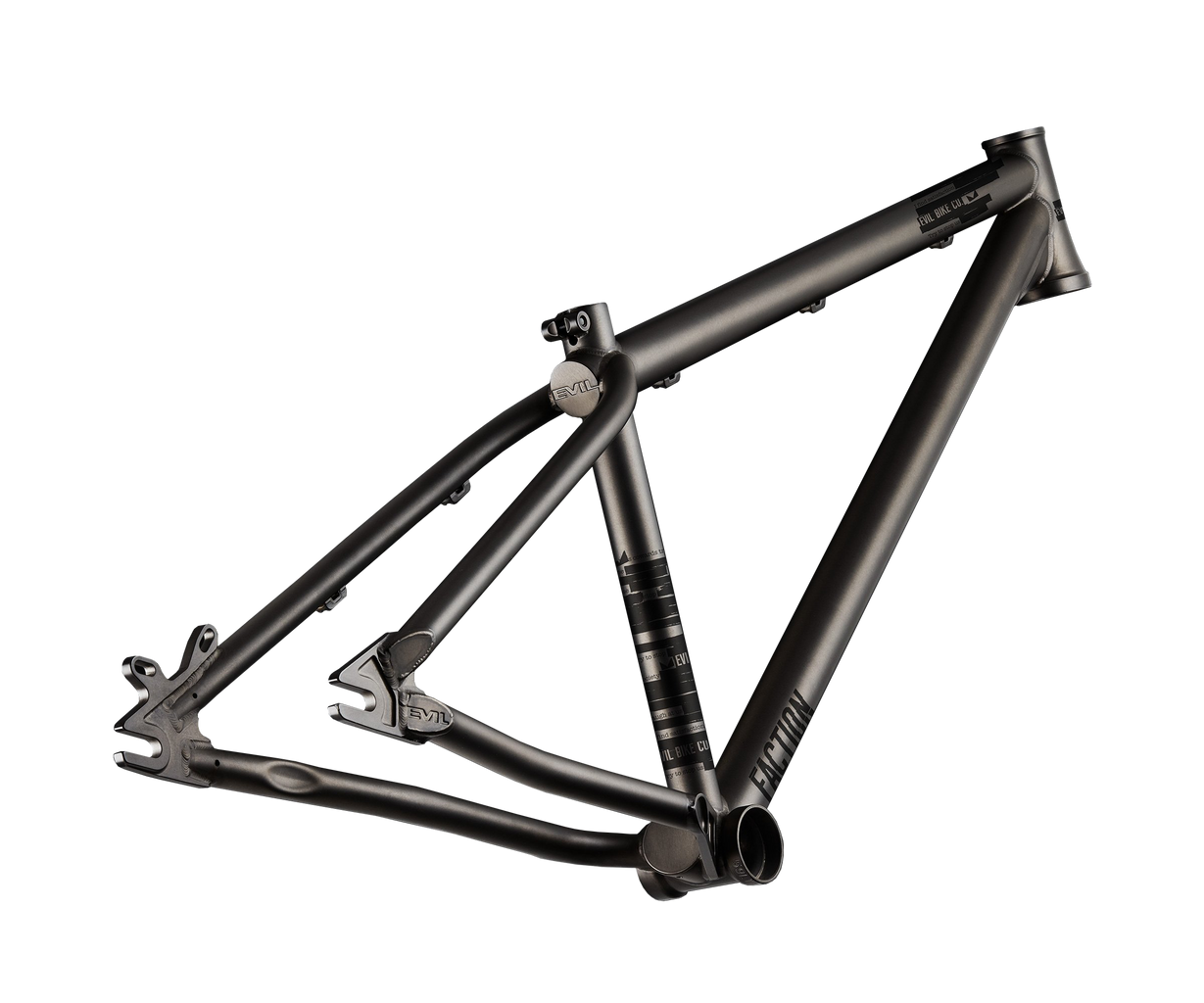 Evil Faction 2 Dirt Jumper Frame Only - Raw Black Rust (S,MD,LG) MPN: EVIL-FACTION2 Mountain Frame Faction 2
