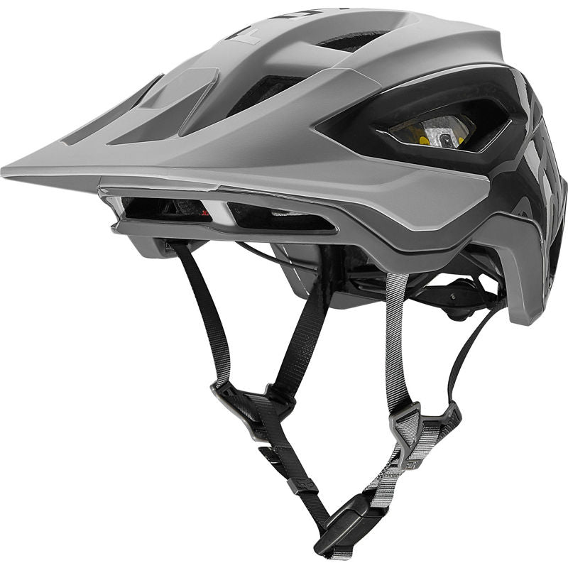 Fox Racing Speedframe Pro Helmet w/ MIPS, Fidlock - Pewter Grey, Large