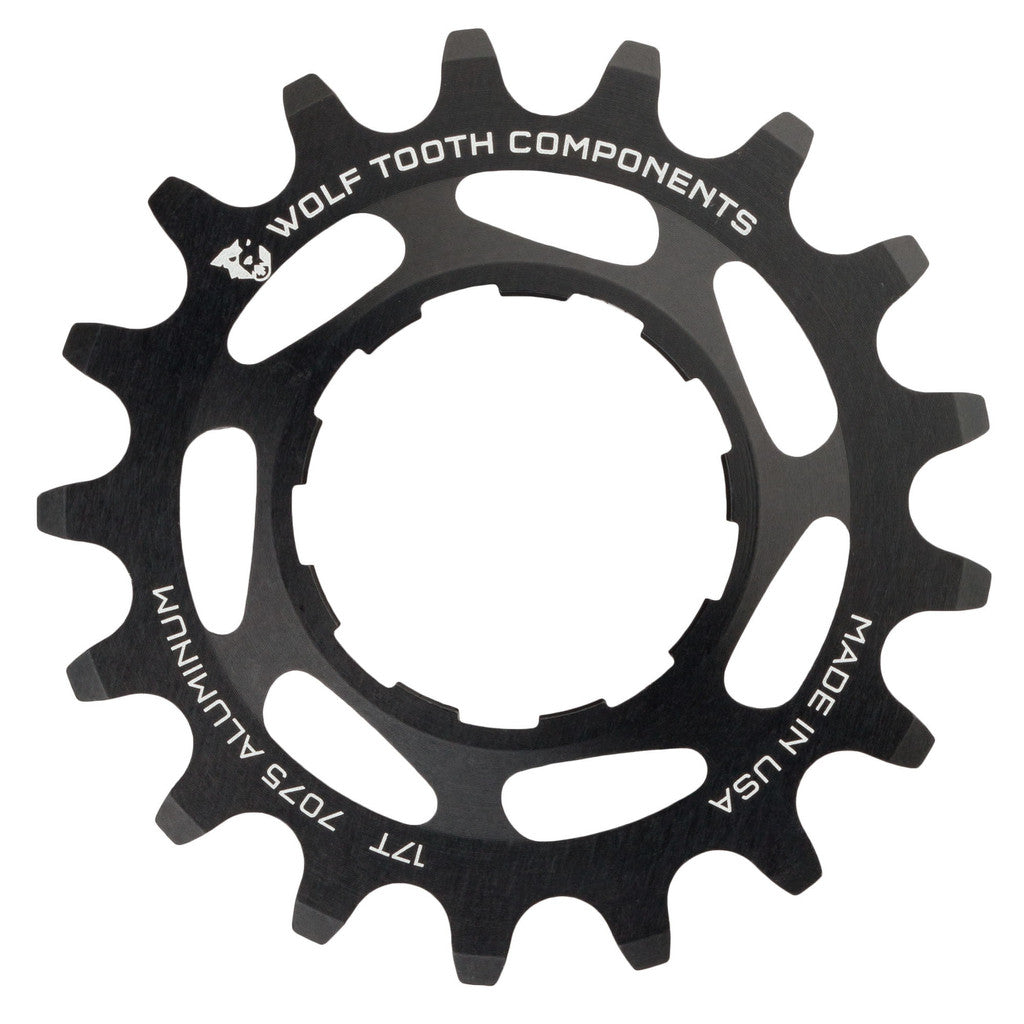 "Wolf Tooth Single Speed Aluminum Cog: 17T, Compatible with3/32"" chains MPN: AL-SS-COG17 UPC: 812719021166 Driver and Single Cog Alloy Singlespeed Cog"