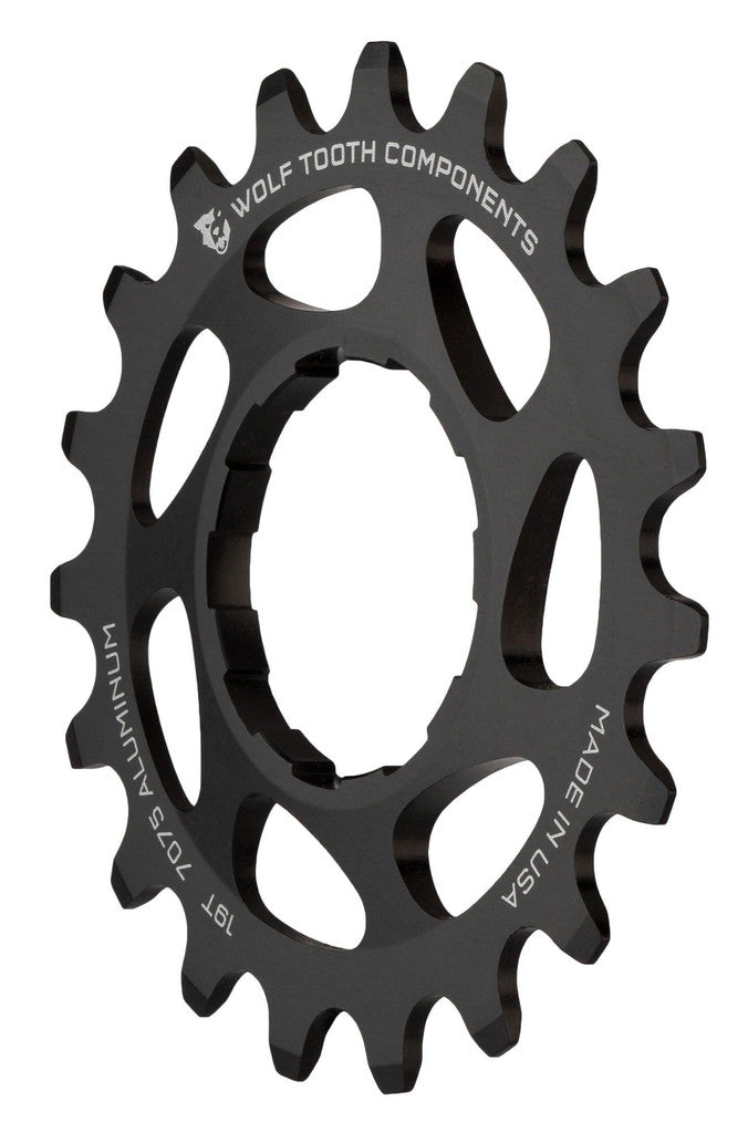 "Wolf Tooth Single Speed Aluminum Cog: 19T, Compatible with3/32"" chains - Driver and Single Cog - Alloy Singlespeed Cog"