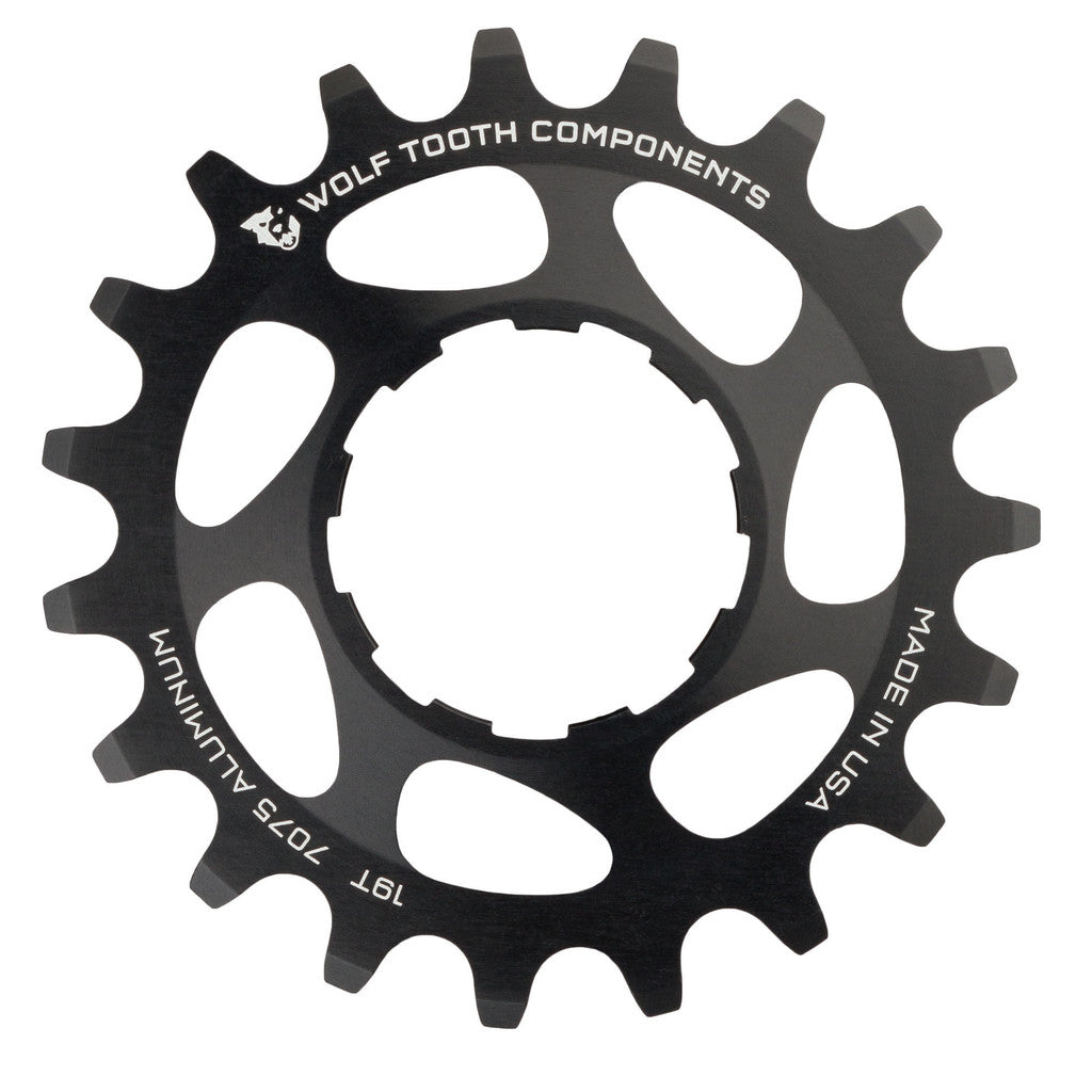 "Wolf Tooth Single Speed Aluminum Cog: 19T, Compatible with3/32"" chains MPN: AL-SS-COG19 UPC: 812719021173 Driver and Single Cog Alloy Singlespeed Cog"