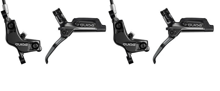 SRAM Guide T Hydraulic Disc Brakeset with Brakes and Levers, Post Mount, Black