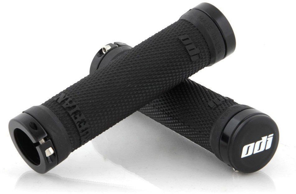 ODI Ruffian Lock-On Grips Bonus Pack: Black, includes locks, grips and end caps