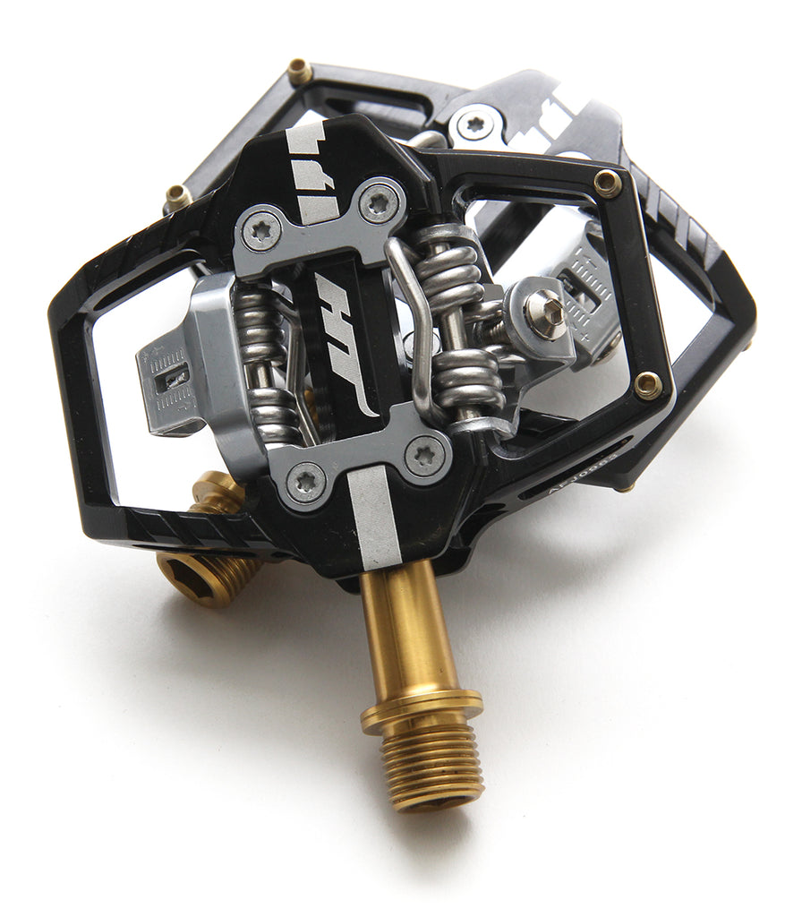 HT Components T1 Trail Pedals - Ti - Black Clipless with Cleats MPN: HX2450 Pedals T1