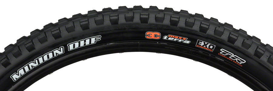 Maxxis Minion DHF Tire 29 x 2.50, Folding, 60tpi, Dual Compound, EXO, Tubeless Ready, Wide Trail, Black MPN: TB96800000 Tire Minion DHF Tire