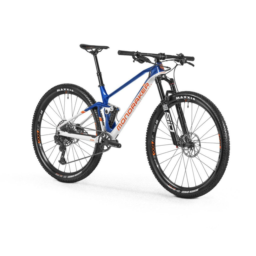 Mondraker F-Podium Carbon DC Build - Deep Blue / Dirty White / Orange - Large