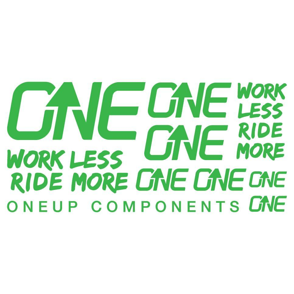 OneUp Components Handlebar Decal Kit Green